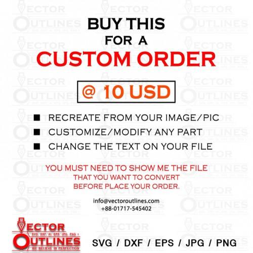 Custom order for 10 USD Single File conversion