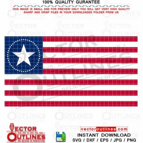 51 USA Flag High Quality Vector File Eps, Dxf, Png, Jpg, Svg High Quality Print File