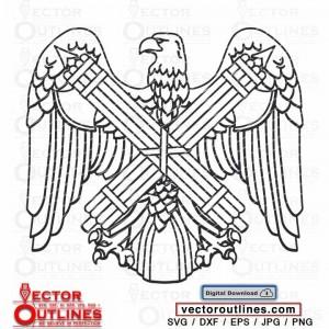 National Guard Bureau insignia vector svg dxf for cnc vinyl cricut x-carve laser wood engraving