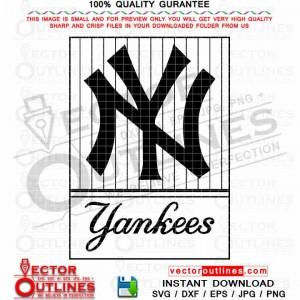 Yankees Logo NY Vector Cnc Cut File, Laser Cut, Vinyl Cut, Svg Engraving File