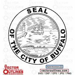 Seal of the City Of Buffalo svg vector silhouette clipart cnc vinyl cricut laser plasma xcarve vcarve carbide cutting engraving