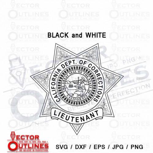 California department of corrections lieutenant badge svg