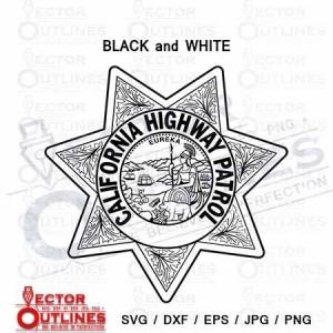 California Highway Patrol svg dxf cnc cut file