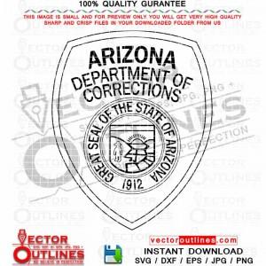 Arizona Department of Corrections Vector Badge SVG Cut File, CNC Laser Cut, CNC Router File, Engraving File, Svg Cricut File