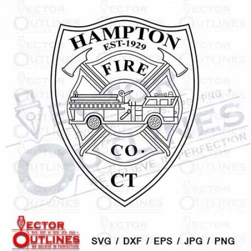 HAMPTON FIRE CO svg cnc cutting files
