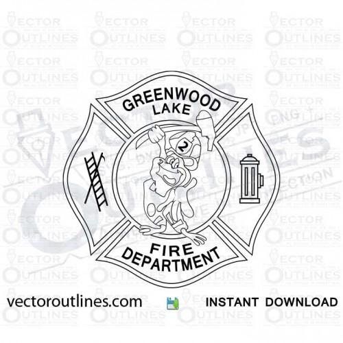 Greenwood Lake Fire Dept logo svg cnc cut file
