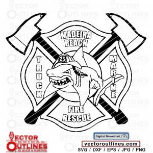 Madeira Beach Fire Rescue vector patch svg Logo Truck Marine 25 emblem cnc cricut laser cutting file
