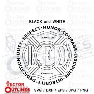 Lexington Fire Department Logo Svg Cnc Cutting File