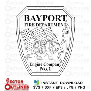 BAYPORT FIRE DEPARTMENT PATCH SVG vector cnc cutting logo