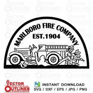 Marlboro Fire Company patch svg dxf cnc engraving cricut vector