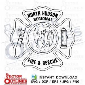 North Hudson Fire and Rescue logo svg cnc cut