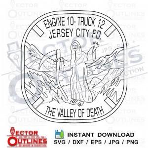 Jersey City Fire Dept Engine 10 Truck 12 svg cnc file