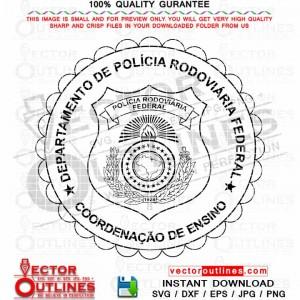 Polica Federal Badge Svg Departmento De Policia Rodoviaria Federal Vector Badge Svg Cnc Cut, Vinyl Cut, Cricut Svg, Laser Engraving File
