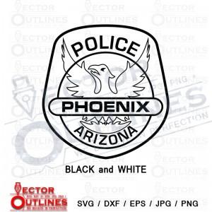 Phoenix Police Department Arizona svg eps dxf