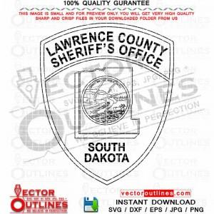 Lawrence County Sheriffs Office svg vector Badge, Patch, Logo, Emblem, Black white cnc router file, laser cut file, engraving file