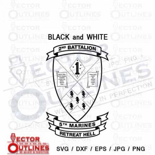 2nd Battalion 5th Marine Regiment USMC SVG CNC Cutting File