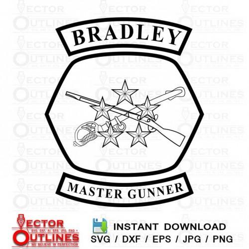 Bradley Master Gunner Svg insignia
