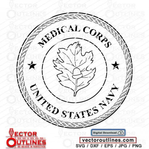 US Navy Medical Corps svg Logo for cnc cricut laser vinyl cutting dxf eps jpg png
