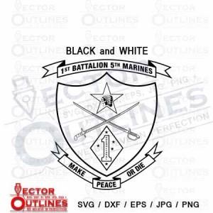 1st Battalion 5th Marine Regiment USMC svg vector