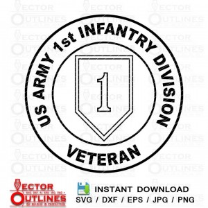 US ARMY 1st INFANTRY DIVISION Veteran logo svg vector