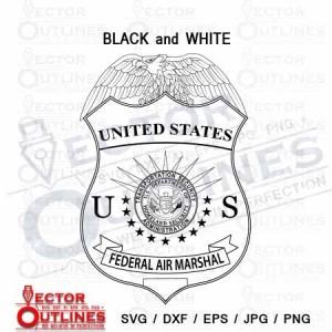 US FEDERAL AIR MARSHAL blank svg dxf cnc cut file