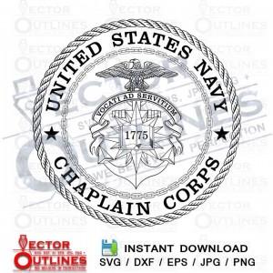 US Navy Chaplain Corps logo svg dxf cnc cutting file