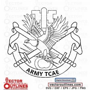 Svg US ARMY TCAE insignia vector emblem badge patch cnc laser cricut vinyl cutting file