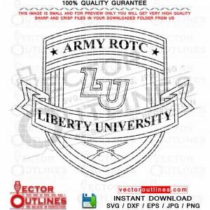 ROTC Liberty University Emblem Svg Insignia Vector Patch Dxf Cnc Cut File, Laser Cut, Cricut Svg, Vinyl Cut, Svg Engraving File