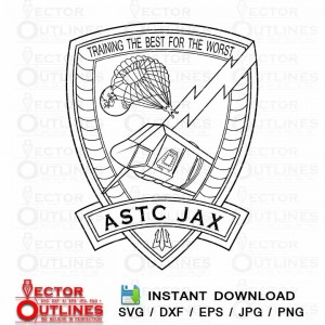 USN ASTC JAX svg vector insignia logo for cnc cricut vinyl laser cut wood engraving