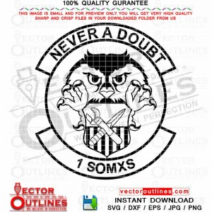 1st SOMXS Insignia svg Vector 1st Special Operations Maintenance Squadron svg logo emblem cnc cut laser engraving file